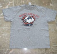 Mens Snoopy Heartbreaker TShirt Size Large