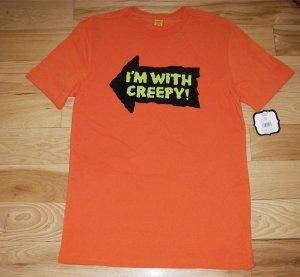 NEW Men's XL- Halloween Tshirt Tee (I'm with creepy!)