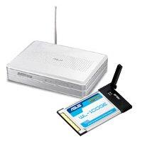 ASUS Wireless Router WL-500g Premium + WL-100GE PCMCIA Wireless-G Adapter Bundle