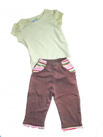 SOZO Boutique Top & Pants Set Outfit Baby Girl 6-12 Months
