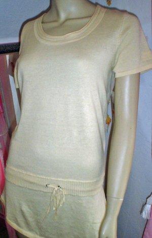 KIKIT Biege Drop  Waist Knit Top Shirt Ladies Small