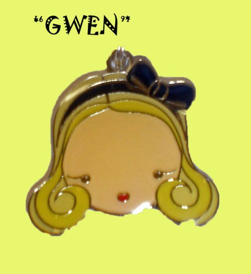 "Gwen Stefani HARAJUKU LOVERS Charm Necklace ""GWEN"" 16"""
