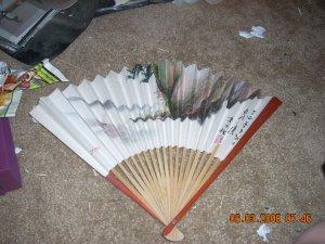 vintage fan wood