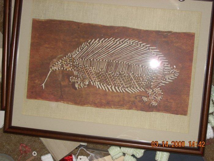 australian aborginal art print, framed in glass #4