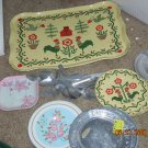 doll size dishes; silverware; etc