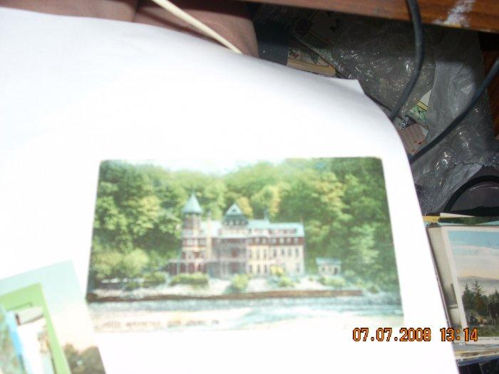 vintage postcard  hotel wahnetah glen onoko pennsylvania