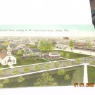 vintage postcard outside view from courthouse antigo wisconsin