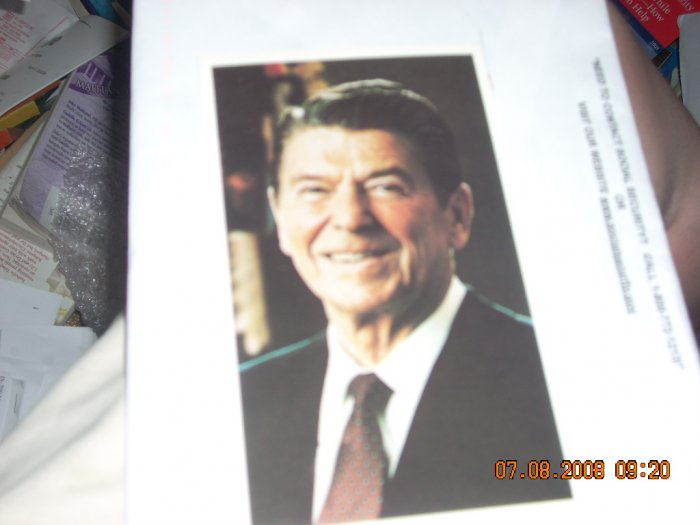 ronald reagan campaign postcards