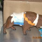 ceramic buffalo carousel animal with pole