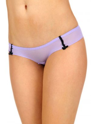 Double Bow Mesh Hipster Panties - Wild Orchid, sz M/6 ~ Just7even