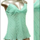 Sexy & Classy Sheer Tunic Tank Top w Sequins Blue sz S * Spaghetti Strap Suplice * Just7even