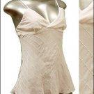 Sexy & Classy Sheer Tunic Tank Top w Sequins White sz S * Spaghetti Strap Suplice * Just7even
