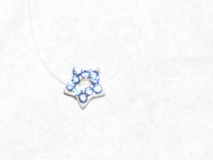 New Pretty illusion Anklet Blue Rhinestone Star Jewelry � Beautiful Sparkly Sexy � Just7even �
