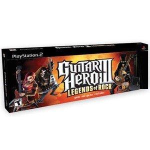 PS2 Guitar Hero III Legends of Rock Bundle with 2 Guitars