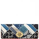 Coach denim framed clutch