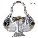 Silver Gucci handbag