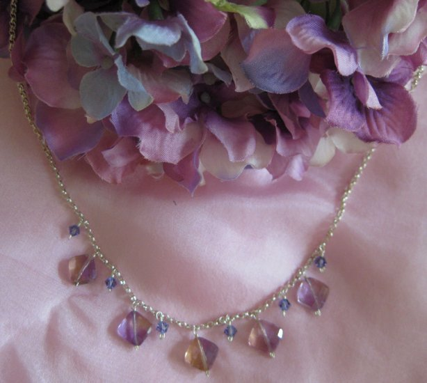 Victorian style handmade semi precious necklace Amytrine Passion Persuasion