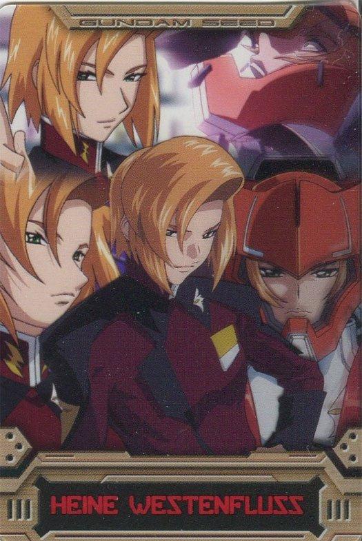 Gundam Seed Destiny cel card (Heine Westenfluss)
