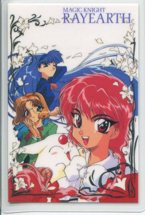 Magic Knight Rayearth Idol card with lillies