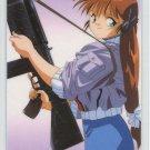 Blue Seed Idol card Momiji w/ gun