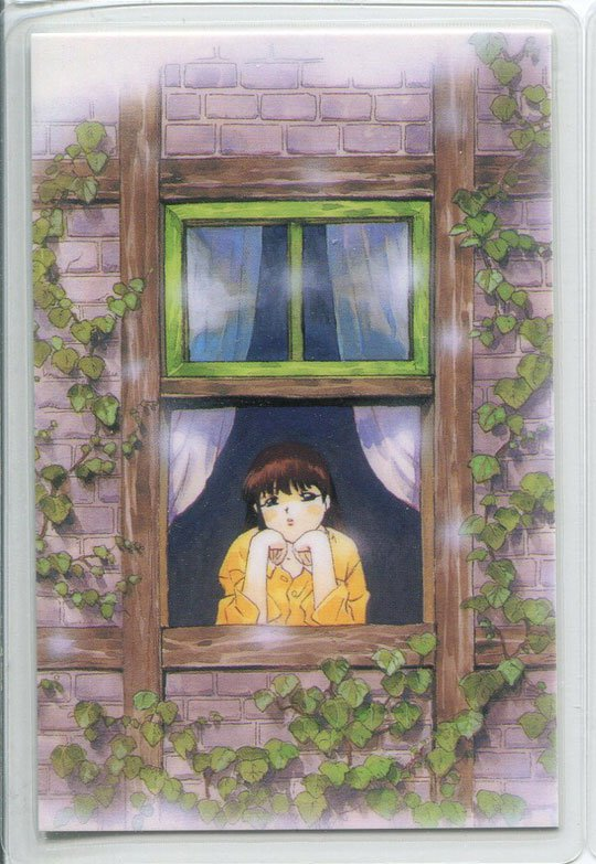 Blue Seed Idol card (Looking out the window)