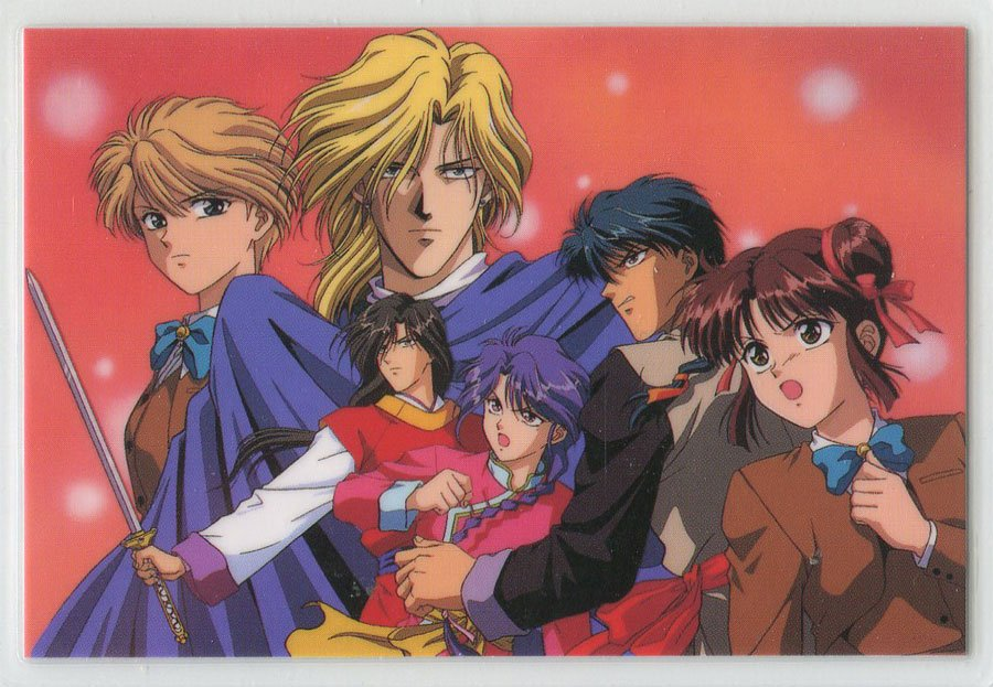 Fushigi Yuugi Idol card (group with Nakago & Yui)