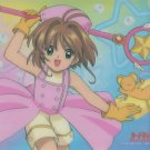 Card Captor Sakura shitajiki (Pink costume w/ staff)  CLAMP