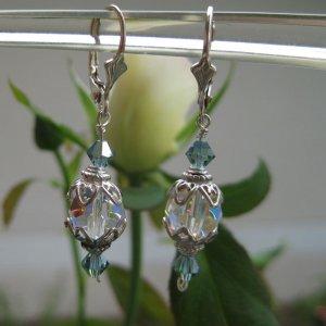 Simply elegant montanna blue crystal earrings