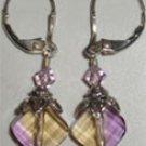 Amytrine diamond style drop earrings