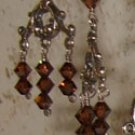 Brown crystal chandelier earrings