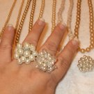 Vintage pearl streach rings (3 pieces)