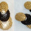 Richard Kerr Earrings (Gold & Black circles)