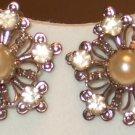 Vintage Rinestone (crystal, clip-on) earrings