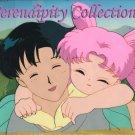 Sailor Moon: Mamoru & daughter (Chibi Usa) animation cel (Beautiful!)