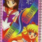 Sailor Moon textured cel card Mina & Rei