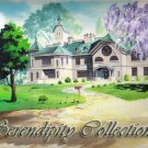 Mansion and wisteria tree production background