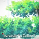 Very detailed tree tops production background