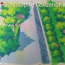 Beautiful areal view of city street walkway production background