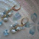 Blue Butterfly lovers earrings (Gold filled)