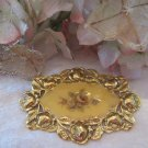 Gold finish victorian styled broach (Vintage)
