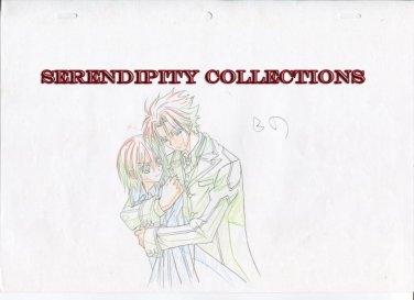 Vampire Knight Production art (Aido embracing Yuki in dress)