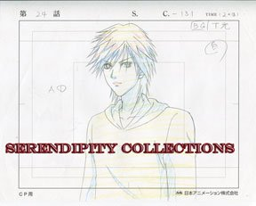 Yamato Nadeshiko, production art set (Kyohei looking at something)