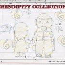 Yamato Nadeshiko, production art set (Chibi Sunako w/ heavy guy)
