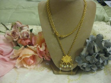 Kirks Folly Old Sun enhancer necklace with crystals