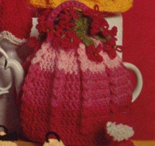 Vintage 1950's Crochet Tea Cozy Pattern Flower Cosy Reproduction PDF Wee Designs