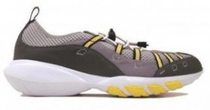 Maui Surf Wake Woman's Water Shoes- Grey/Yellow-5935750