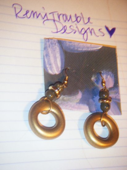 bead and plastic earrings
