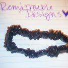 thin black beaded bracelet