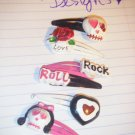 """punk rock"" hairclips"