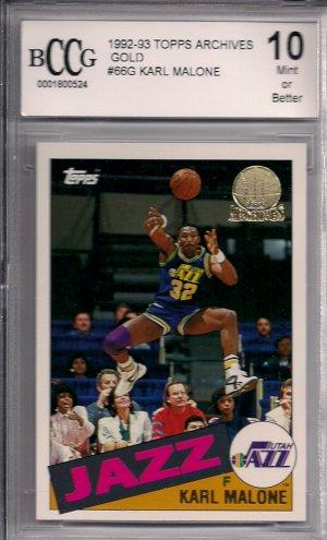 1992-93 TOPPS GOLD #66G KARL MALONE BCCG10 JAZZ